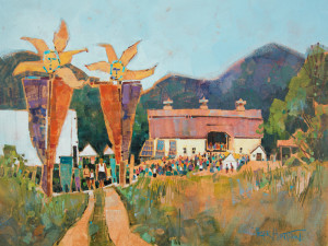 SolarFest - Painting by Vermont Artist Peter Huntoon